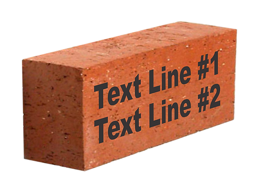 "4"" X 8"" Brick w/ 2 lines of text"