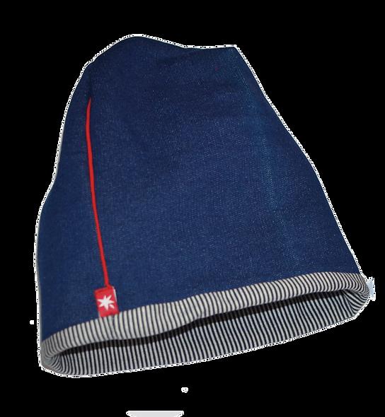 WAM двулицева шапка светъл деним вата
