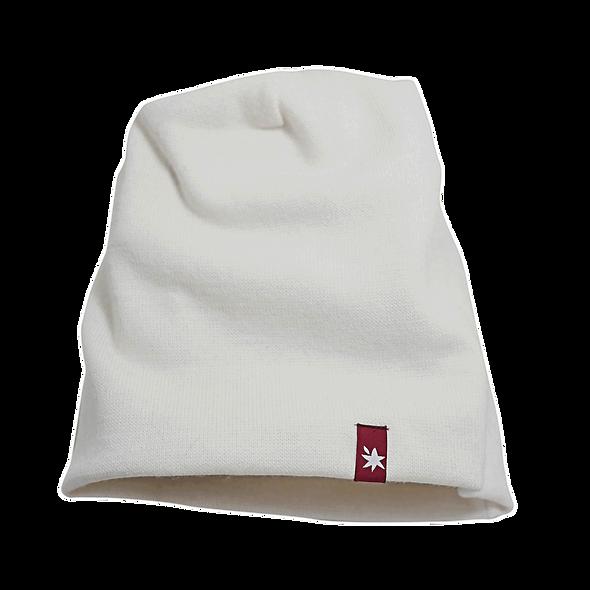 WAM унисекс бяла акрилна шапка