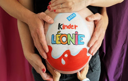 Belly painting Kinder