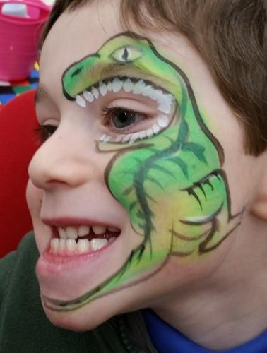 maquillage Dinosaure