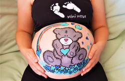 Belly painting ourson