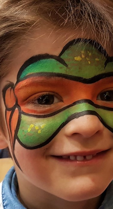 Maquillage tortue Ninja