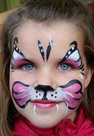 maquillage petit chat rose