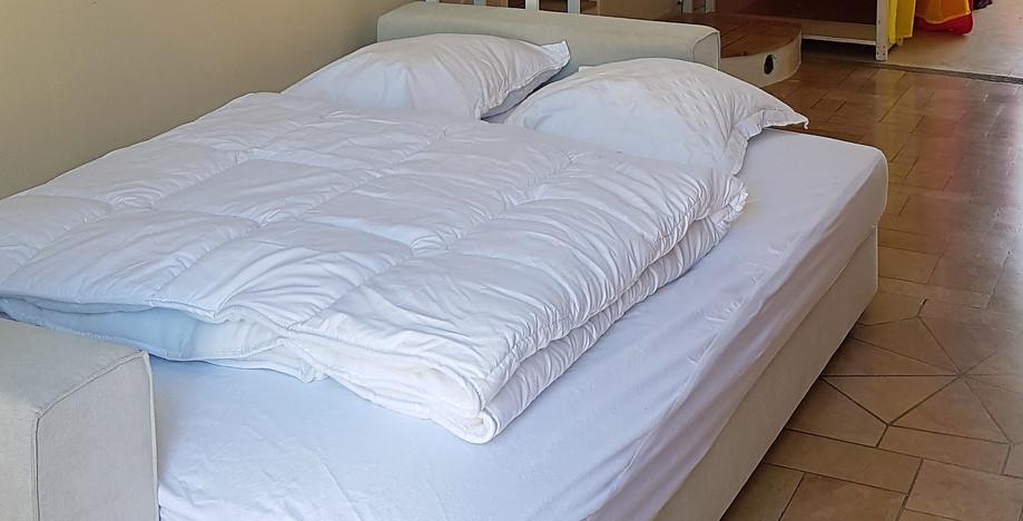 Canapé lit ouvert