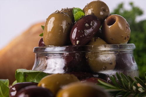 Greek Style Marinated Olives