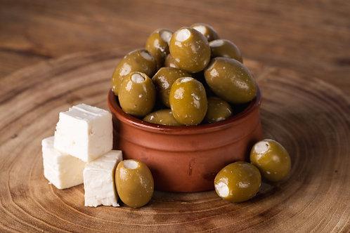 Feta Stuffed Green Olives