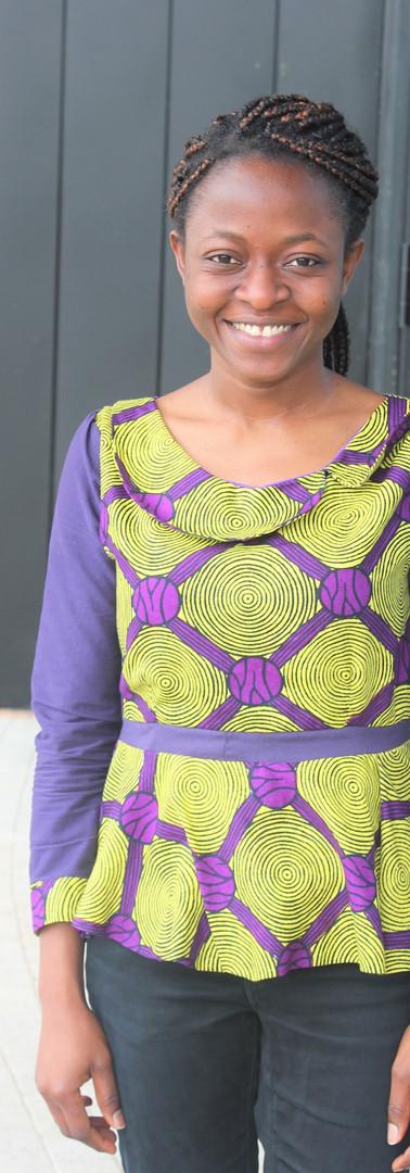 #B7 Round Collar Long Sleeve Blouse