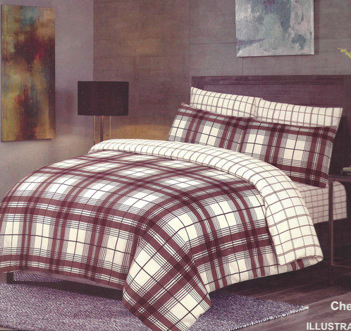Check Brown Duvet Cover