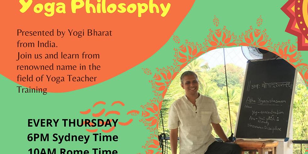 Virtual Workshop Pranayama & Yoga Philosophy via Zoom