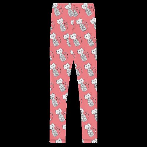 Gatito Pink Youth Leggings