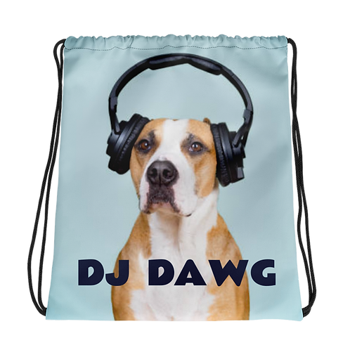 DJ Dawg Drawstring Bag