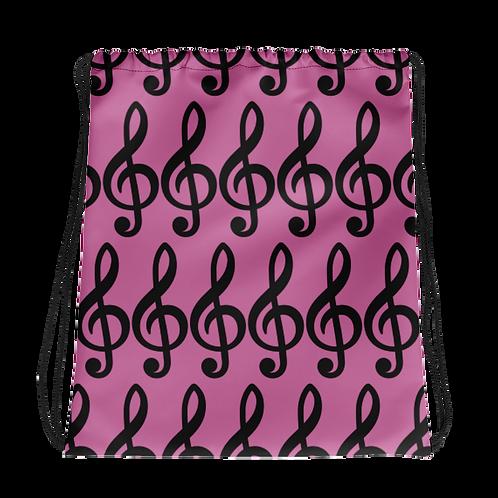 Bass Note Drawstring Music Bag