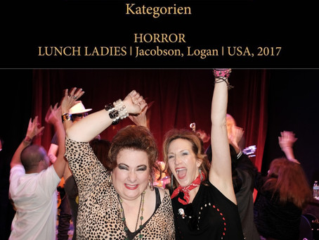 Lunch Ladies WIN Best Horror at Film Leben Fest In Germany - Pass Out From Excitement