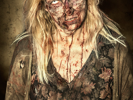 """Zombie Girl Takes A Break From Gnawing A Femur To Growl """"Lunch Ladies is My New Fave Dark Comedy"""""""
