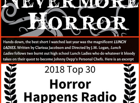 """Lunch Ladies Win Nevermore's & Jay Kay's Best Horror Shorts Of 2018 - """"Scr*w You, Oscars"""""""