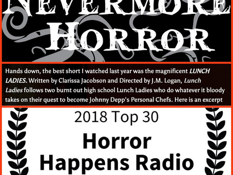 "Lunch Ladies Win Nevermore's & Jay Kay's Best Horror Shorts Of 2018 - ""Scr*w You, Oscars"""