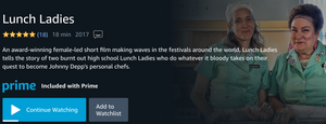 Prime Video Lunch Ladies
