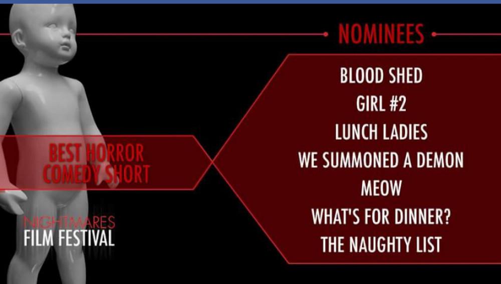 Nightmares Best Horror Comedy Short Nominees