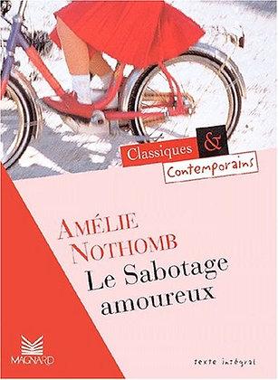 """Amélie Nothomb - """"Le sabotage amoureux""""  (Pack wD29)"""