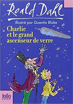 """Dahl Roald - """"Charlie et le grand acsenseur de verre""""  (Pack wA80)"""
