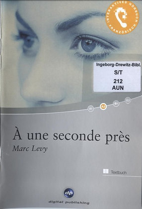 "Marc Levy - ""À une seconde près""  (Pack wD38)"