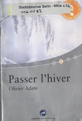 "Adam Olivier - ""Passer l_hiver"" - (Pack wB21)"