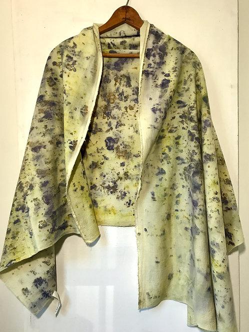 dusty yellow purple scarf