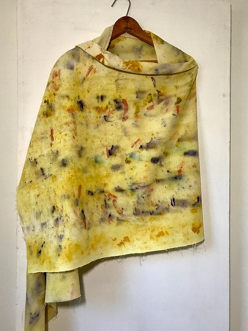 wild yellow orange scarf