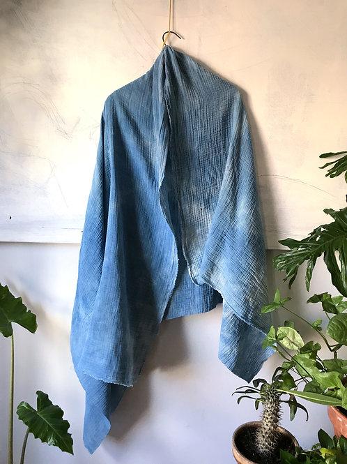indigo wisper scarf large