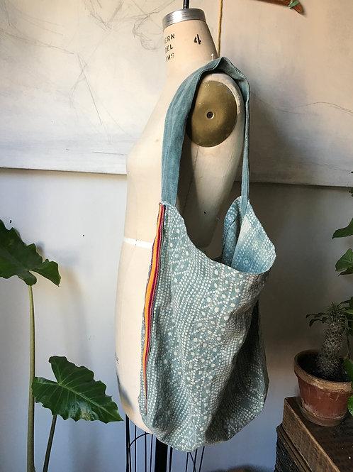 blue batik bag