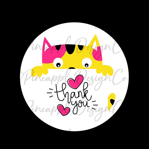 Colorful Cat • Thank You for Helping Me Grow • Sticker Sheet