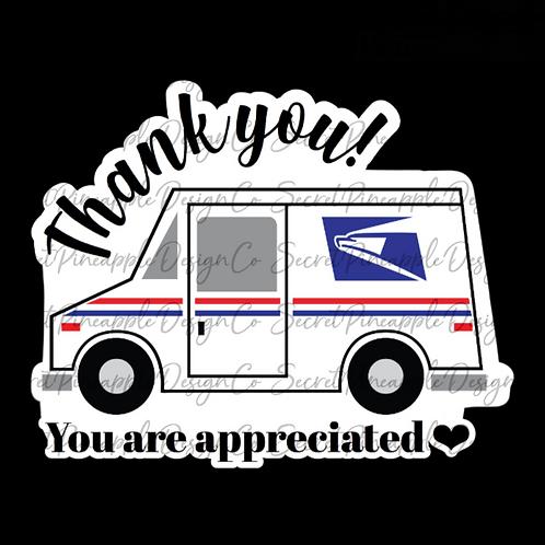 Appreciated • USPS • Sticker Sheet