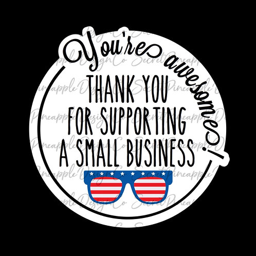 USA Sunglasses • Small Business • Sticker Sheet