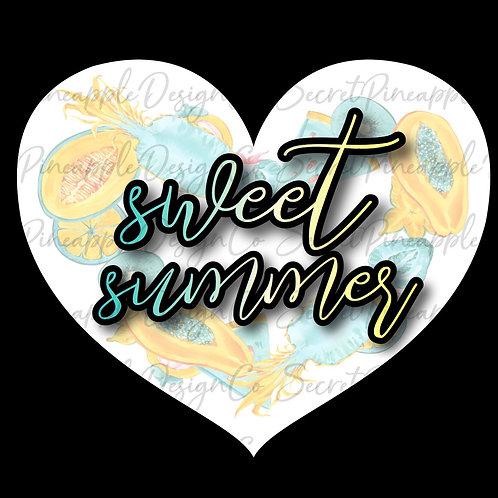 Sweet Summertime • Heart • Sticker Sheet
