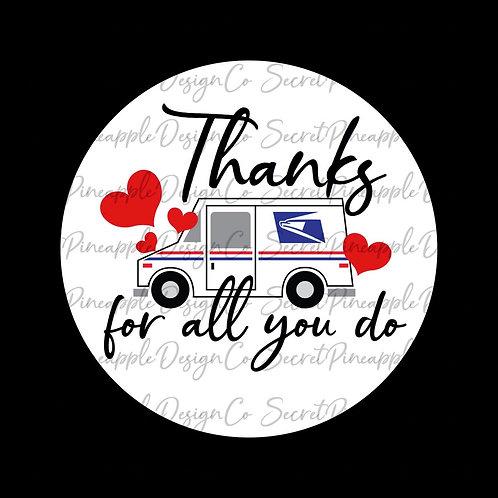 Thank You • USPS • Sticker Sheet
