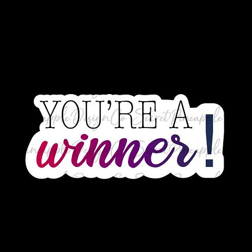 Pink/Purple • Winner • Sticker Sheet