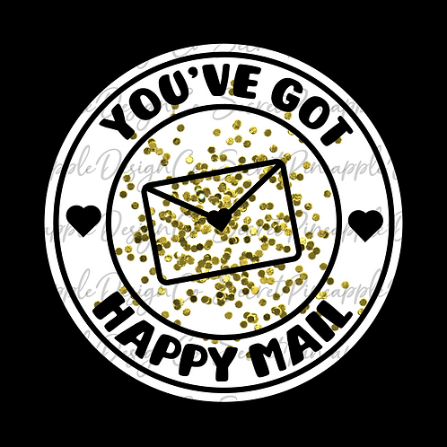 Gold Glitter • Happy Mail • Sticker Sheet