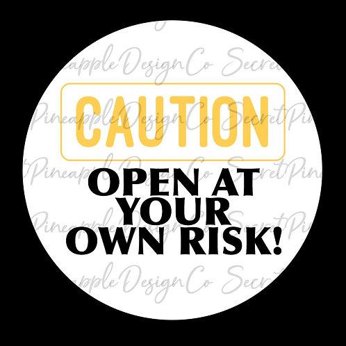 Caution • Halloween • Sticker Sheet