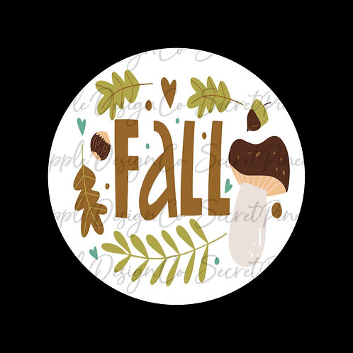 Fall • Leaves/Mushroom • Sticker Sheet