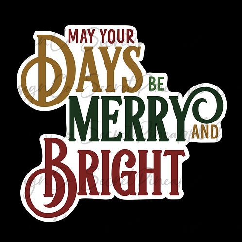 Merry and Bright • Christmas • Sticker Sheet