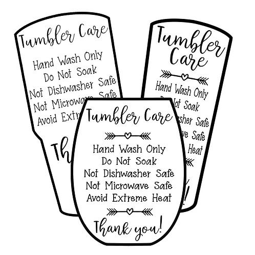 Tumbler • Care Cards