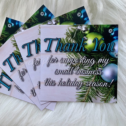 "Holiday • Thank You • Insert Cards 2.5""x2.5"""