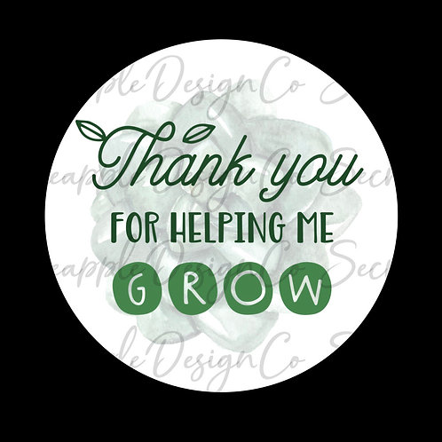 Succulent • Thank You for Helping Me Grow • Sticker Sheet
