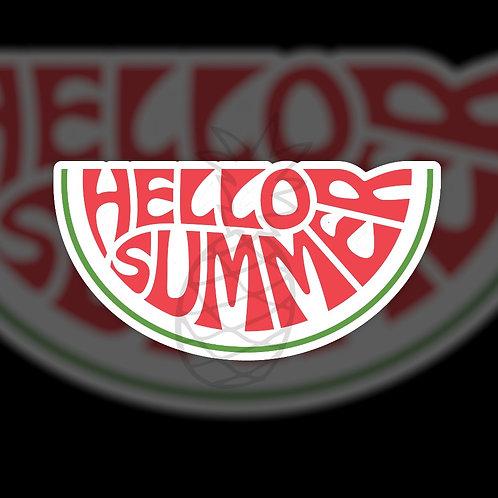Hello Summer • Watermelon • Sticker Sheet