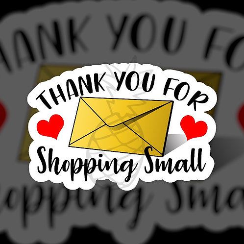 Thank you for shopping Small • Sticker Sheet