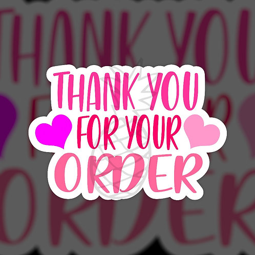 Thank You for your Order • Sticker Sheet