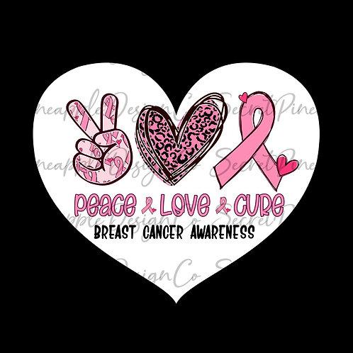 Peace • Love • CURE l• Sticker Sheet
