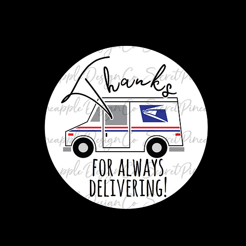 Delivering • USPS • Sticker Sheet
