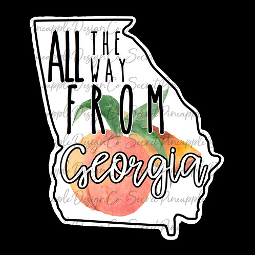 Georgia Sticker Sheet